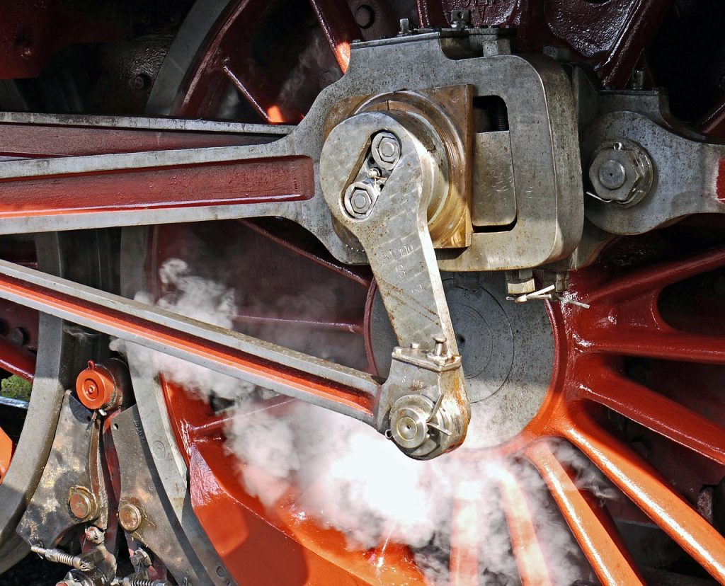 steam locomotive, blowing axis, pivot