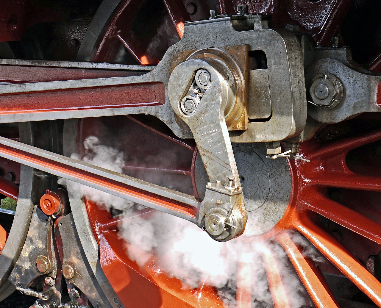 steam locomotive, blowing axis, pivot